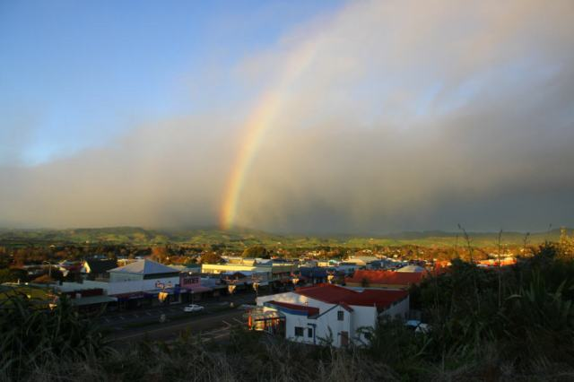 In Waihi, there's a good chance of finding gold at the end of the rainbow.
