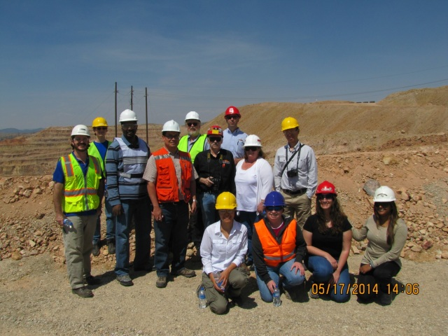 Several MineSight staff from Tucson headquarters signed up with Arizona-SME for the annual FMI trip, May 17.