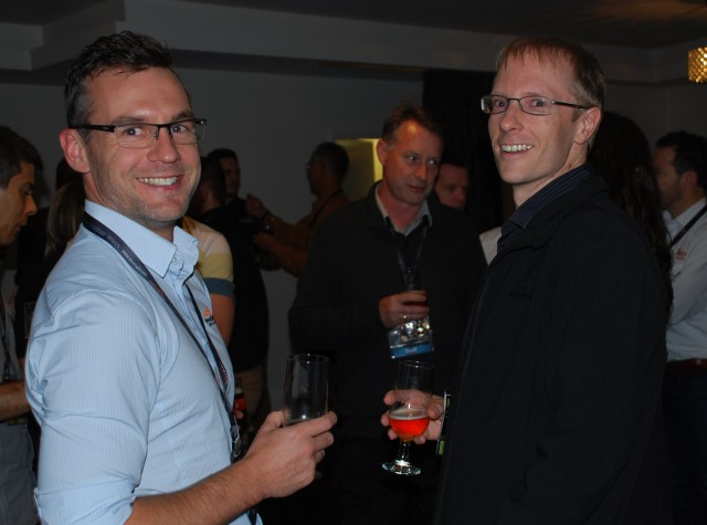 MineSight's Kristin Trappitt and Grant McEwen, with Matt Cotterell of Snowden.