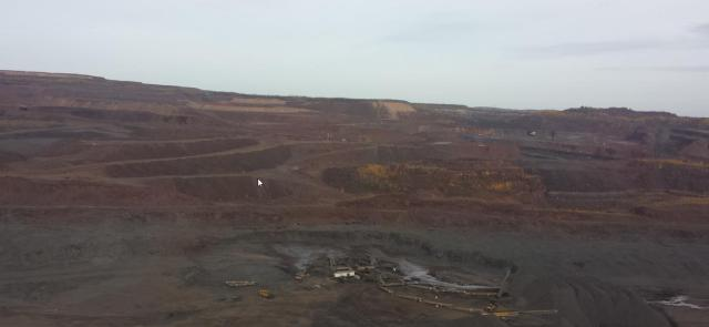 The Hull Rust-Mahoning mine, once the largest iron ore mine in the world and hard to miss from land or air.